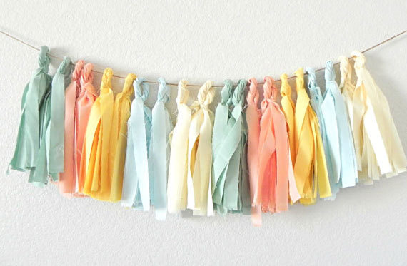 Fabric Garlands are Easy and Beautiful