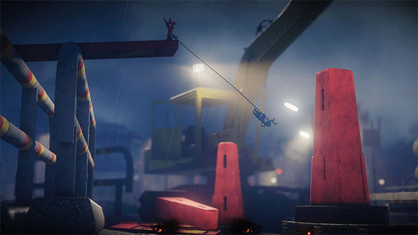 Using your partner as an anchor leads to some clever platforming puzzles.