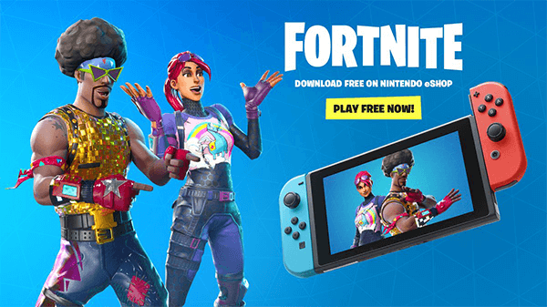 Fortnite is right at home on the Switch.
