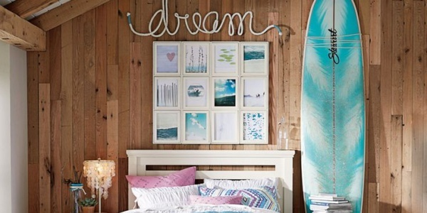 A few beachy touches bring the outdoors in, ensuring sweet, beachy dreams all night long
