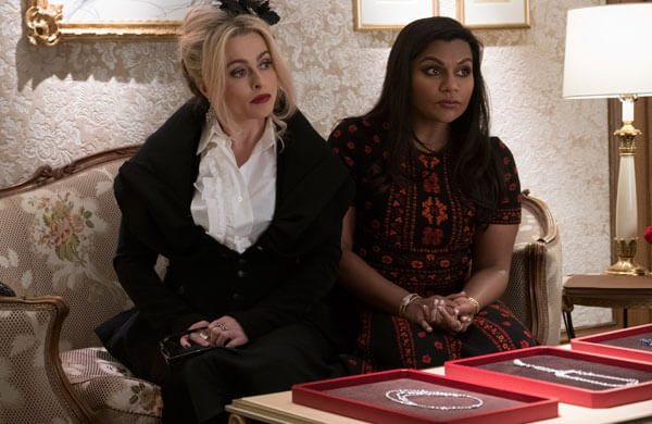 Rose (Helena Bonham Carter) and Amita (Mindy Kaling) check out jewels