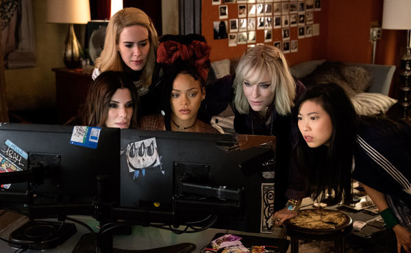 Sarah, Sandra, Rihanna, Cate and Awkwafina plan