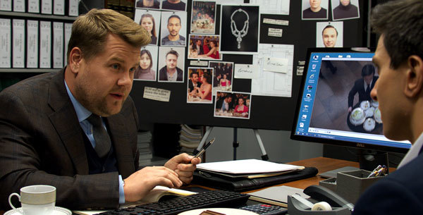 Frazier (James Corden) investigates the theft