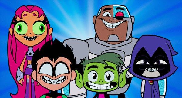 Starfire, Robin, Cyborg, Beast Boy, and Raven