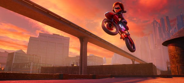 Elastigirl races to save the runaway hover-train