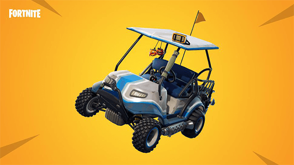 The All-Terrain Kart keeps you cruising at a high speed, until it ends up destroyed.
