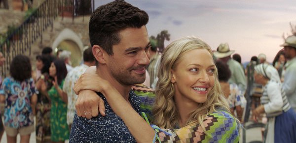 Sophia and Sky (Dominic Cooper) enjoy themselves