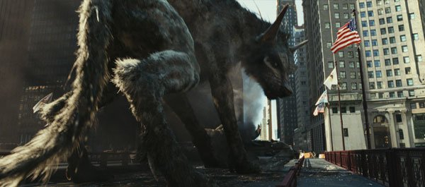 Wolf creature Ralph looks for prey in Chicago
