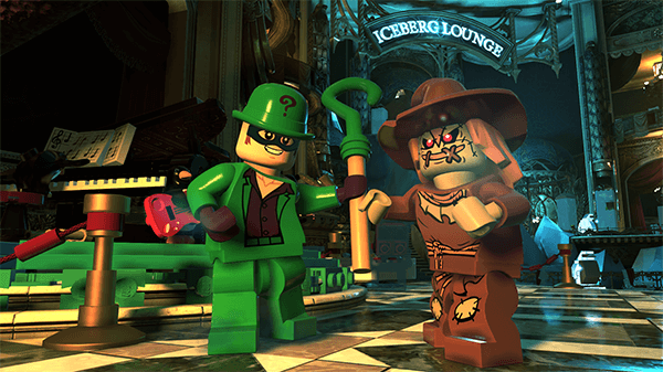 Riddler and Scarecrow outside of Gotham City's Iceberg Lounge. Is The Penguin nearby?