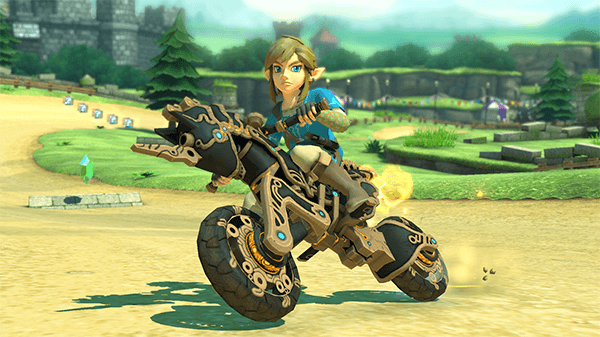 Link's new vehicle is added into Mario Kart 8 Deluxe.