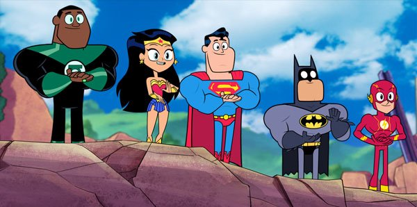 Green Lantern, Wonder Woman, Superman, batman and Flash