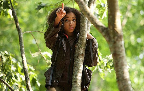 A very young Amandla as The Hunger Games' Rue