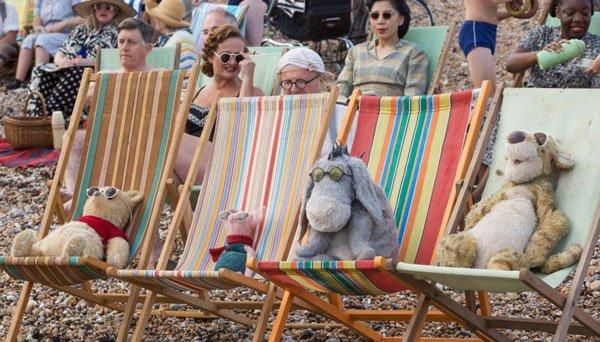 Animals enjoy a day at the beach