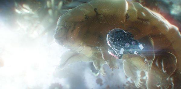The pod inside the Quantum Realm