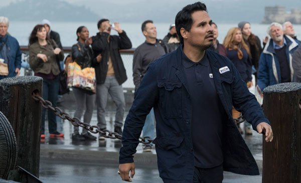 Luis (Michael Peña) sees giant Ant-Man in the bay