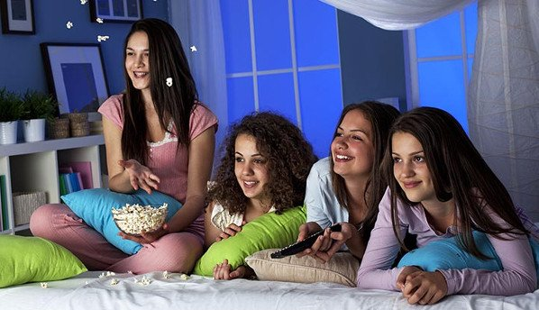 Have sleepovers with your friends during the week.