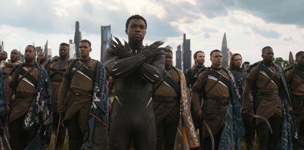 T'Challa/Black Panther says Wakanda Forever!