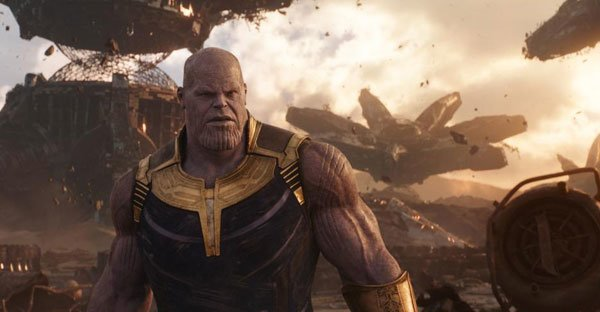 Thanos on his destroyed home world
