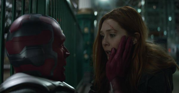 Scarlett Witch and Vision are in love