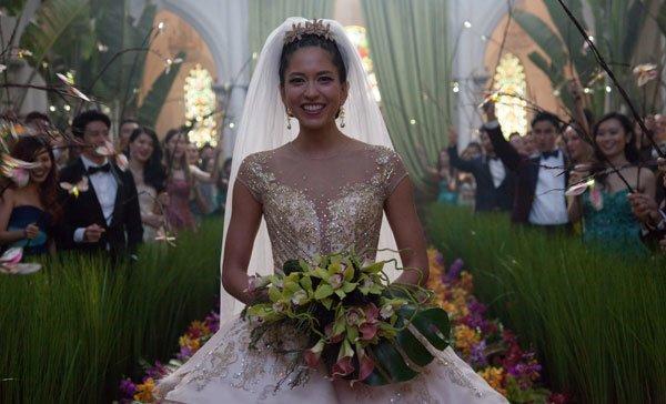 Araminta looks gorgeous at her posh wedding