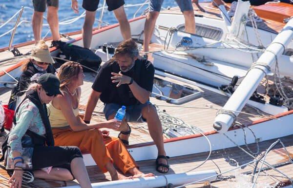 Shailene talks with her director