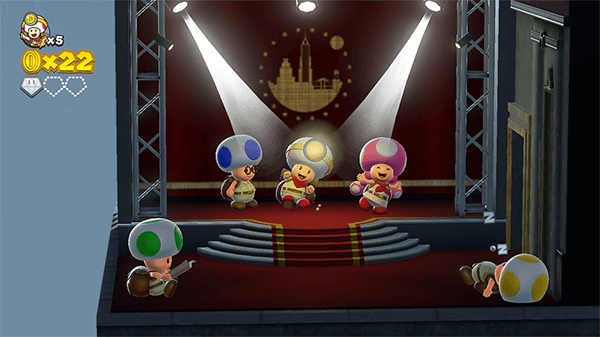Toad's cute cast of characters keep the small worlds feeling alive.