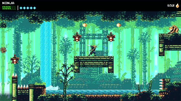 The Messenger has a look similar to a high end NES game.