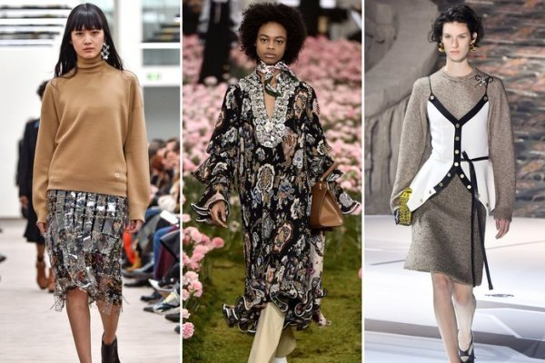 Oversized layers in fall tones dominated the runways at Fashion Week in 2018