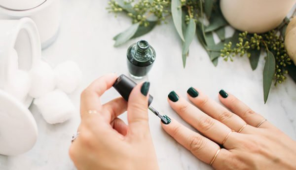 Try forest green nails this fall
