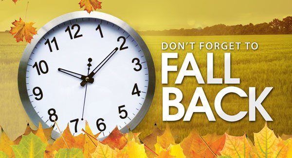 Daylight Savings Fall Back!