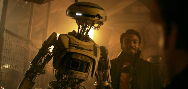 Lando with his beloved droid