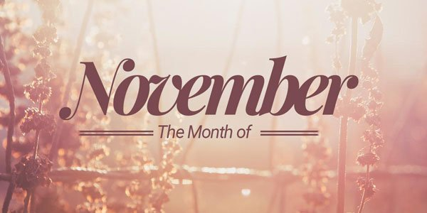 Feature the month november feat