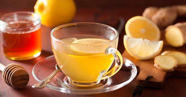 Ginger, honey and lemon Tea