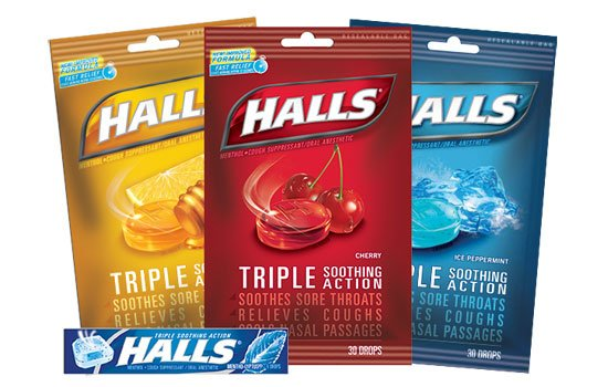 Halls lozenges can offer relief to your sore throat
