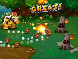 Playing as Bowser feels different than playing as Mario or Luigi.