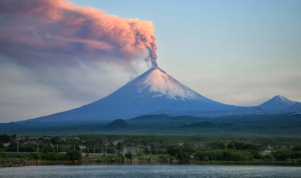 Volcanoes create but can also destroy to make way for new life