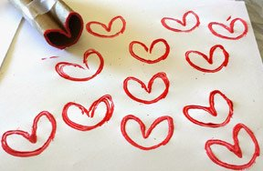 Preview stamp heart toilet paper roll pre