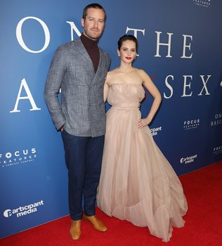 Felicity and Armie at a screening of the film