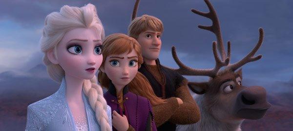 Elsa, Anna, Kristoff and Sven