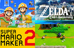 Super Mario Maker 2 and Zelda: Link's Awakening Trailers