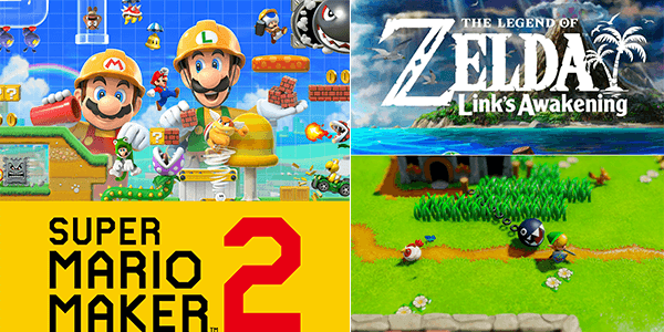 Super Mario Maker 2 and Zelda: Link's Awakening Trailers