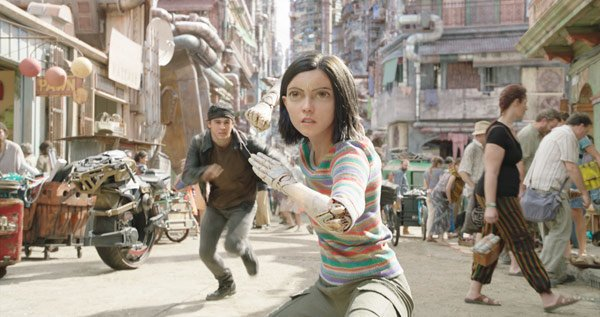 Alita, with Hugo, is ready to fight