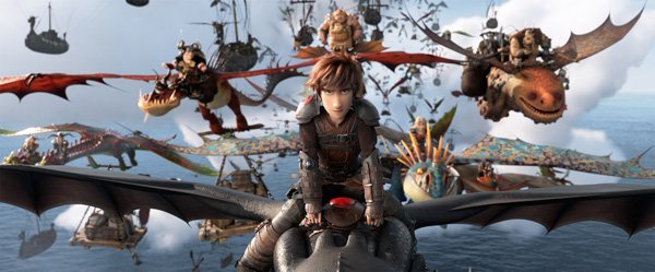 Hiccup and riders go to confront Grimmel