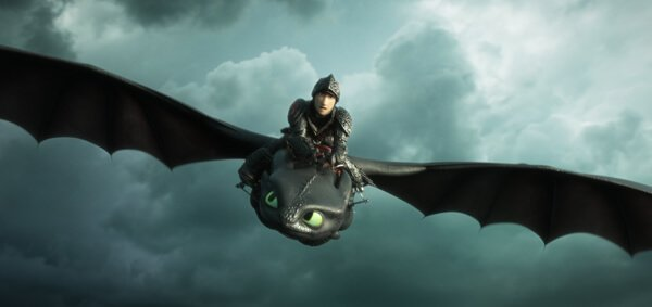 Hiccup and Toothless fly to free captured dragons