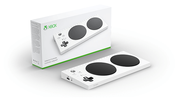 The Xbox Adaptive Controller helps more people to play games.