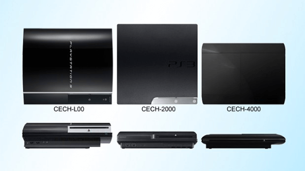 The many models of PlayStation 3.