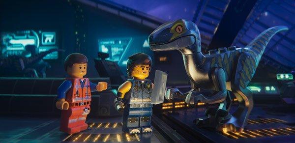 Emmet meets Rex's raptor crew