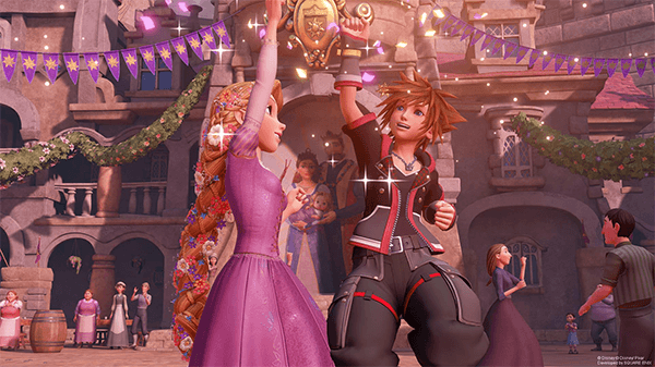 Sora meets up with loads of Disney heroes.