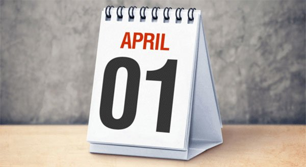 Mark your calendar for April Fools Day!