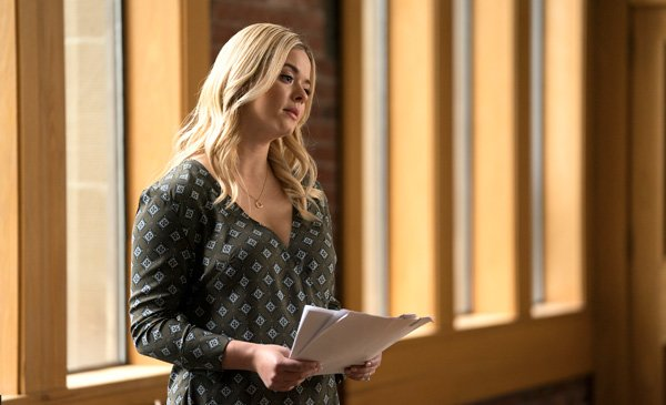 Sasha as Alison at the college